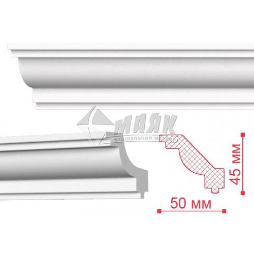 Плінтус стельовий декоративний NMC J Nomastyl 45×50×2000 мм