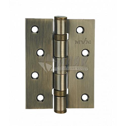 Петля дверна врізна MVM 100×75 АВ універсальна стара бронза