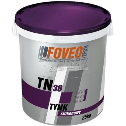 Штукатурка декоративна силіконова Foveo Tech TN30 Короїд 2,0 мм база А 25 кг біла