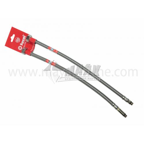 Шланг напірний для змішувачів Tucai TAQ GRIF 15 мм 0,4 м нержавіюча сталь 2 шт