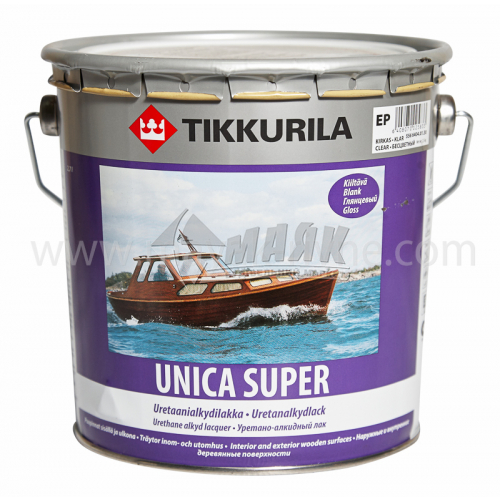 Лак яхтовий Tikkurila Unica Super для внутрішніх та зовнішніх робіт 2,7 л глянцевий