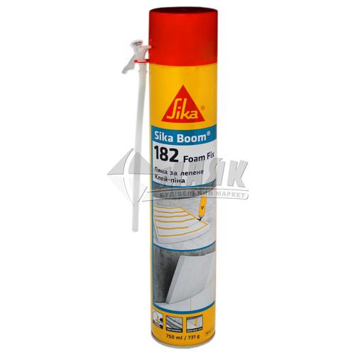 Піна-клей монтажна ручна для систем теплоізоляції Sika Boom-182 Foam Fix зимова (всесезонна) 750 мл