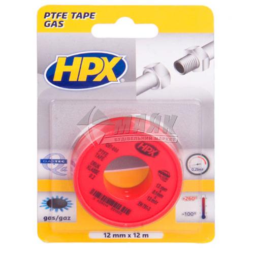 Стрічка для ущільнення газових фітингів HPX PT1212 12 мм х 12 м