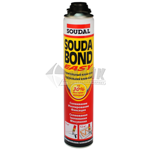 Піна-клей монтажна професійна для пінопласту Soudabond Easy Gun літня 750 мл