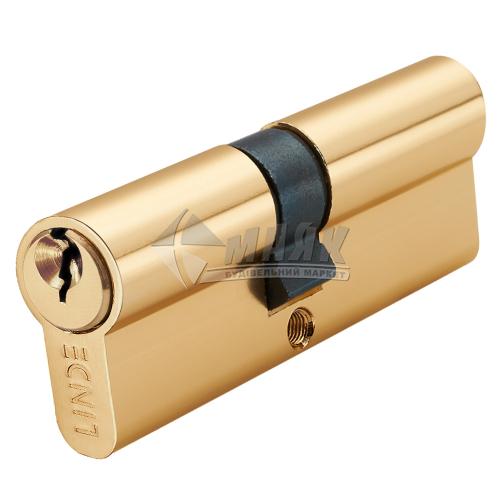 Циліндр ключ-ключ LINDE A5E35/35 PB латунь полірована