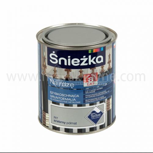Емаль антикорозійна Sniezka На іржу 0,65 л R17 срібна напівматова