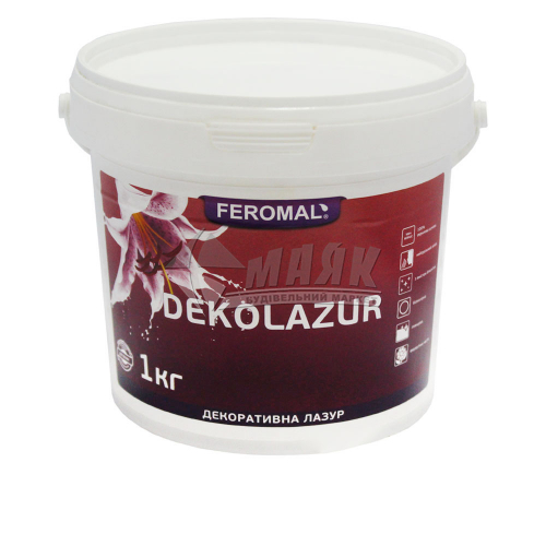 Лазур декоративна Feromal Dekolazur інтер'єрна 1 кг безбарвна класік