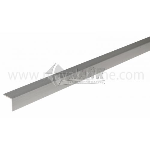 Профіль для плитки алюмінієвий TIS АК20 20×20×2700 мм срібло