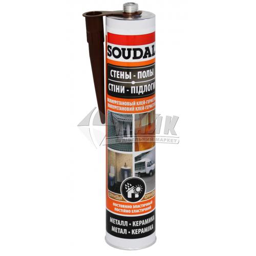 Клей-герметик поліуретановий Soudal PU Sealant 290 мл коричневий