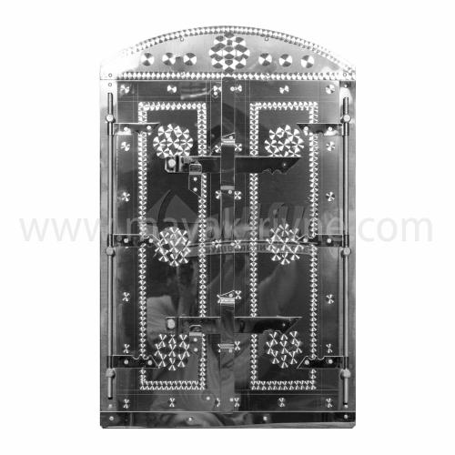 Дверцята для коптильні нержавіюча сталь Арка 400×600 мм 5,54 кг