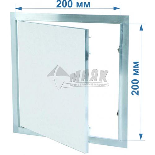 Дверцята ревізійні F1 G:125 200x200 мм гіпсокартон 12,5 мм