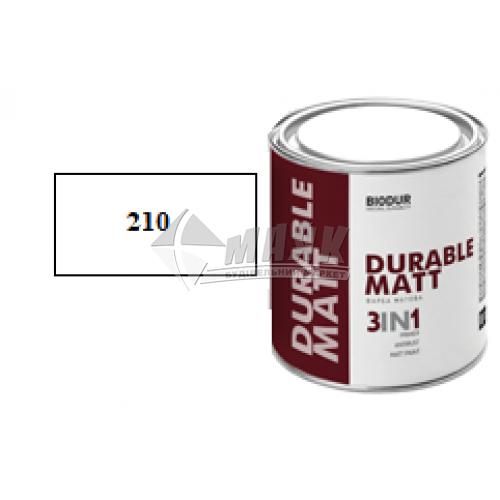Емаль антикорозійна Biodur 3в1 0,7 л 210 біла матова