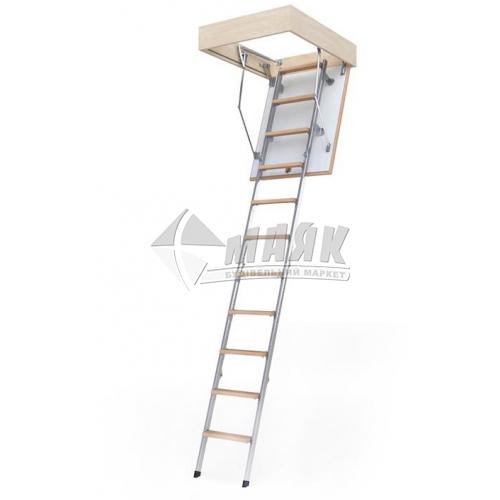 Сходи на горище BukWood Compact Metal Standart люк 120×70 см 3 секції