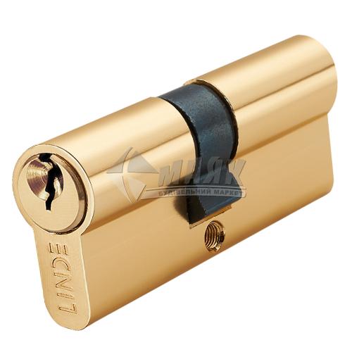Циліндр ключ-ключ LINDE A5E30/30 PB латунь полірована