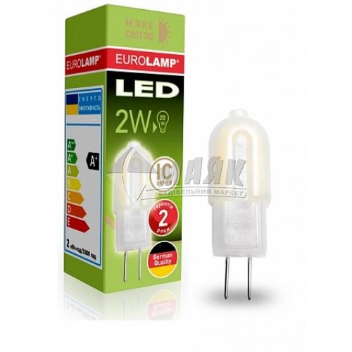 Лампа світлодіодна капсульна EUROLAMP 2Вт G4 3000°К 220В (LED-G4-0227(220)P)