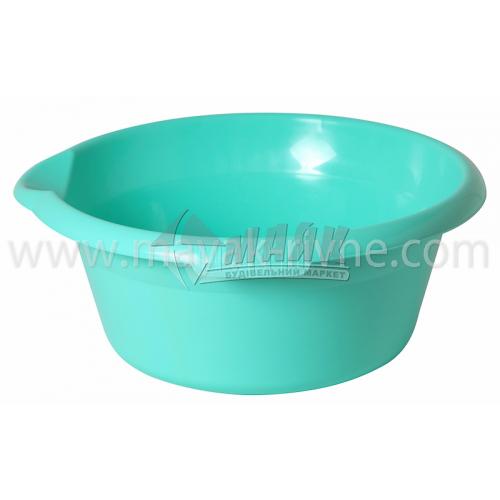 Миска пластикова господарська кругла з носиком 10 л в асортименті