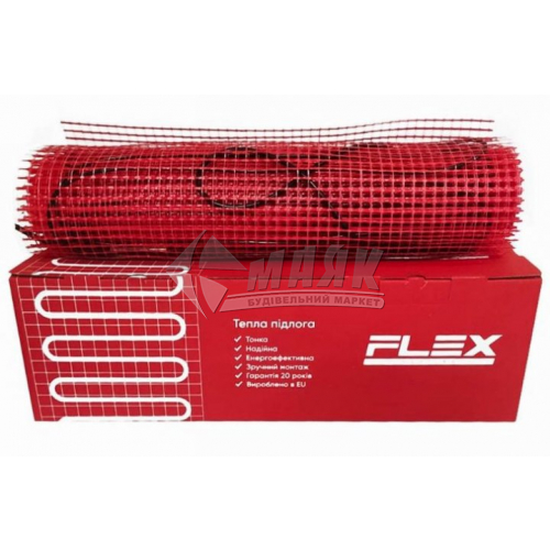 Мат нагрівальний для теплої підлоги двожильний FLEX Heating EHM-175 0,088кВт 0,5 кв.м