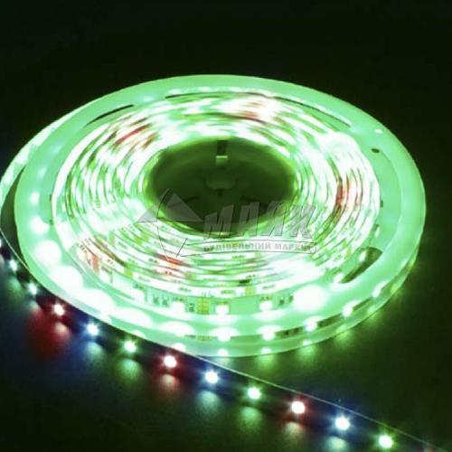 Стрічка світлодіодна Feron LS606 LED-RL 60SMD RGB 14,4 Вт/пог.м 12В IP20 5 пог.м кольорова