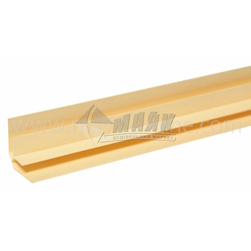 Профіль монтажний ПВХ кут внутрішній 3 пог.м 8 мм світло-коричневий