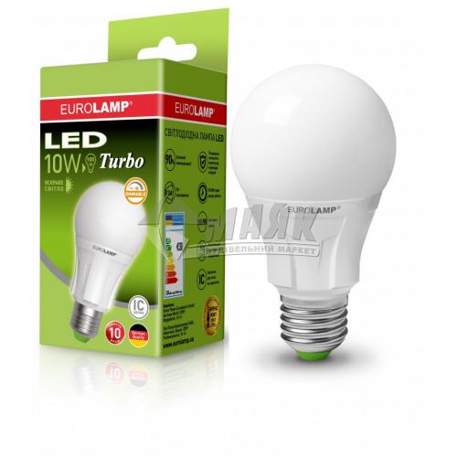 Лампа світлодіодна класична (груша) EUROLAMP 10Вт Е27 А60 4000°К дімміруюча (LED-А60-10274(Т)dim)