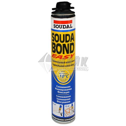 Піна-клей монтажна професійна для пінопласту Soudabond Easy Winter зимова (всесезонна) 750 мл
