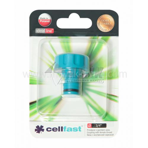 """Адаптер для крана пластиковий Cellfast із внутрішньою різьбою 3/4"""""""