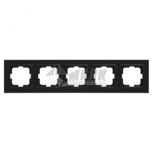 Рамка п'ятимісна горизонтальна Mono Electric DESPINA графіт