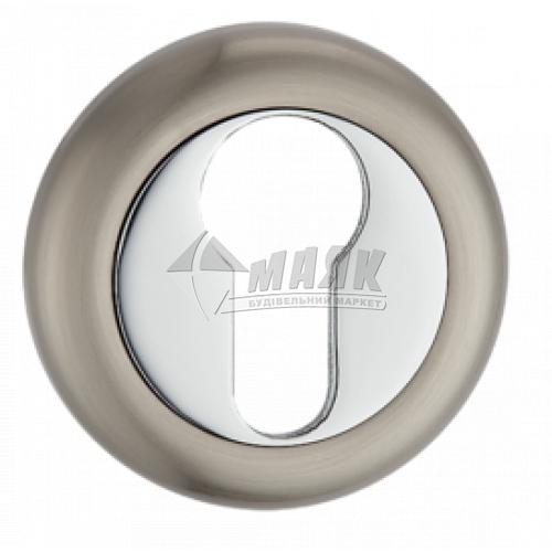 Накладка на циліндр кругла MVM E5 SN/CP нікель матовий/хром полірований