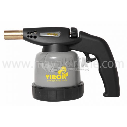 Лампа паяльна газова VIROK з п'єзозапалом під балон 190 г