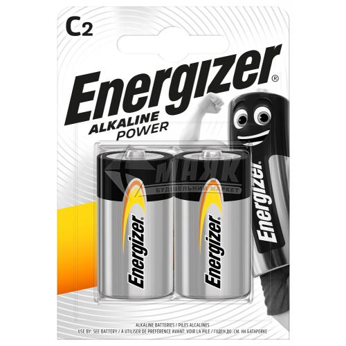 Батарейки ENERGIZER C Alkaline Power лужна 2 шт