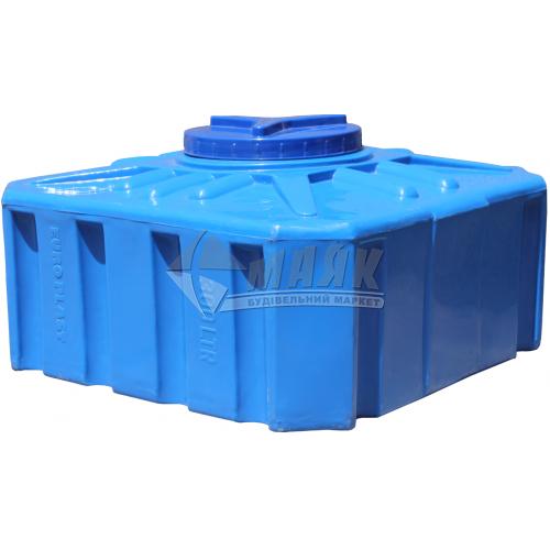 Ємкість двошарова харчова квадратна пластикова Євро Пласт EК К 300 л