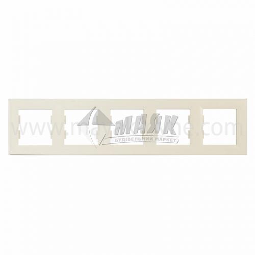 Рамка п'ятимісна горизонтальна Schneider Asfora кремова