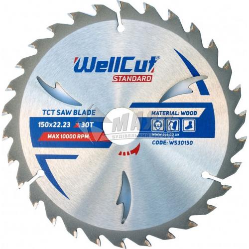 Диск пиляльний WellCut Standard 150×22,23 мм 30Т