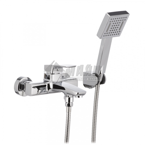 Змішувач для ванни MIXXUS PREMIUM PATRICK 1Р 009 з душовим комплектом одноважільний настінний короткий гусак