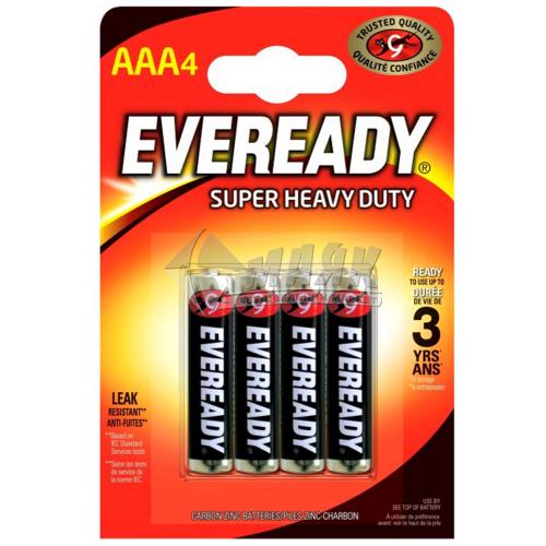 Батарейки EVEREADY AAA Super Heavy Duty сольові (цинково-вугільні) 4 шт