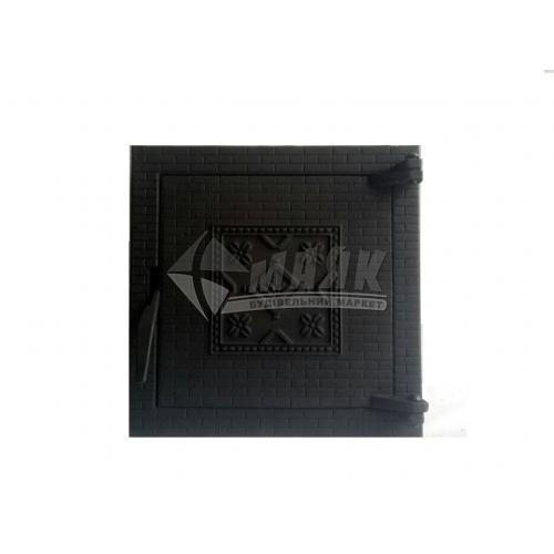 Дверцята для топки Булат Замкові 400×400 мм 17 кг