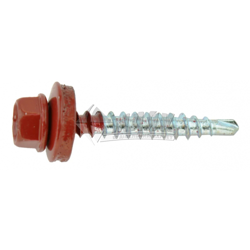 Саморіз для металочерепиці по дереву Wkret-Met 4,8×35 мм зі свердлом 3011 червоний