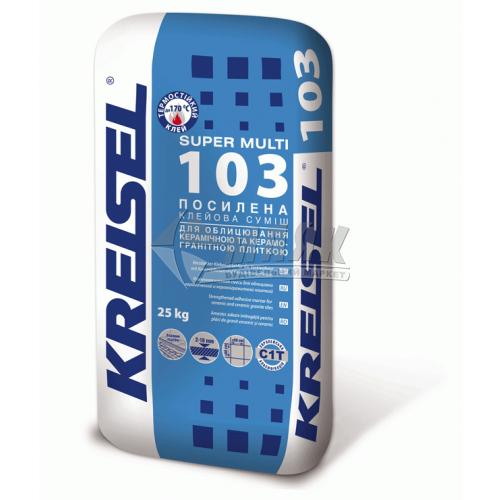 Клей для облицювальної плитки Kreisel Super Multi 103 Посилений 25 кг