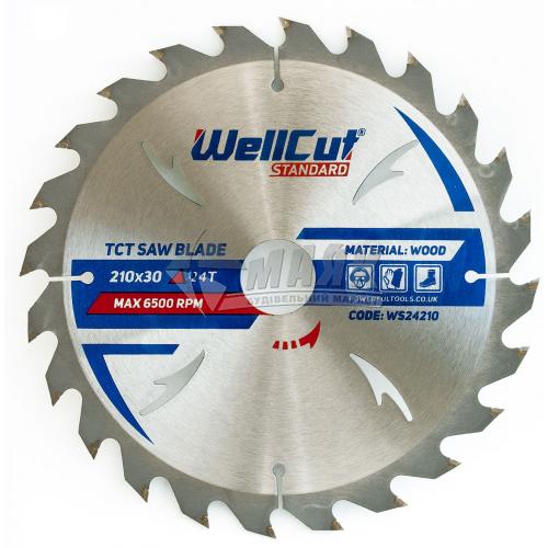 Диск пиляльний WellCut Standard 210×30 мм 24Т