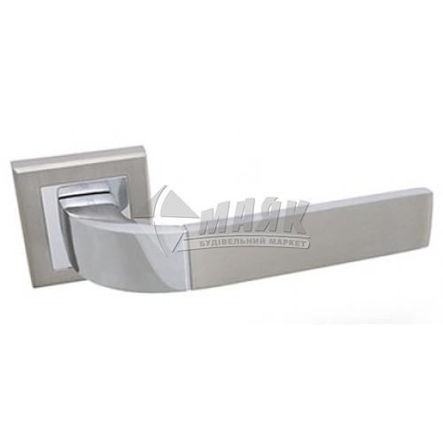 Ручки дверні на розетці Apecs Windrose Sirocco H-18104-A-NIS/CR сатин/хром