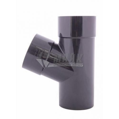 Трійник пластиковий Profil 100/100 мм 67° 130/100 графіт