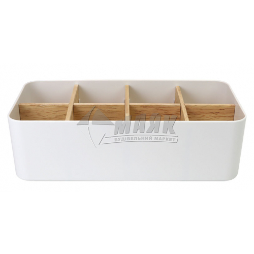 Органайзер для дрібниць MVM FH-03 272×132×84 мм білий/дерево