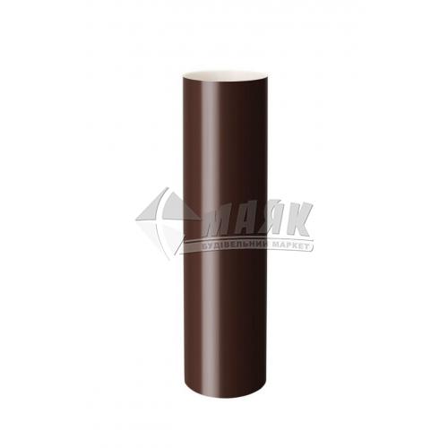 Труба водостічна пластикова NewWay 85 мм 3 м коричнева