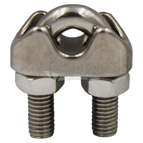 Затискач для троса дуговий 5 мм нержавіюча сталь