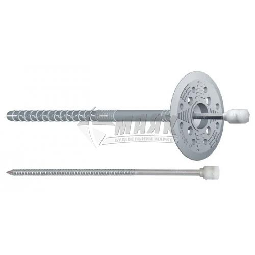 Дюбель для теплоізоляції металевий цвях термоковпак 10×180 мм