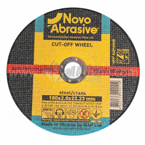 Диск абразивний відрізний по металу Novoabrasive A30S BF 180×2,0×22,23 мм