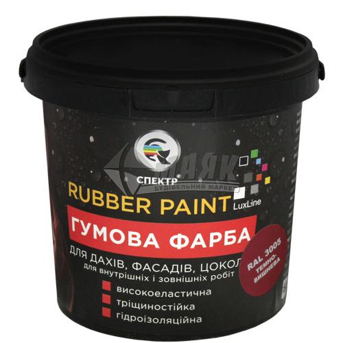 Фарба гумова Спектр акрилова 1,2 кг RAL 3005 темно-вишнева