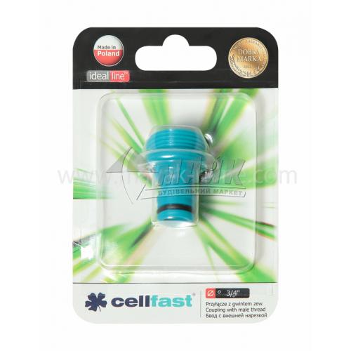 """Адаптер для крана пластиковий Cellfast із зовнішньою різьбою 3/4"""""""