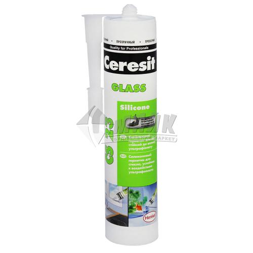 Герметик силіконовий для скла та акваріумів Ceresit Glass CS 23 280 мл прозорий