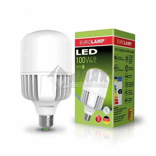 Лампа світлодіодна циліндр EUROLAMP 100Вт Е40 HP 6500°К (LED-HP-100406)